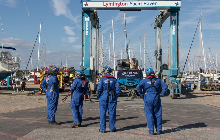 Lymington Yacht Haven, HM Coastguard and the fire service with